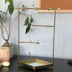 Urban Outfitters Gold Jewelry Organizer